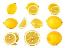 Yellow Lemon on the white background Stock Photo