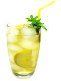 Yellow lemonade drink with ice Stock Photography