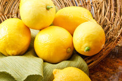Yellow Lemons Stock Image