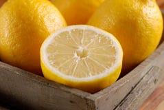 Yellow lemons organic Royalty Free Stock Photo