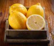 Yellow lemons organic Royalty Free Stock Photos