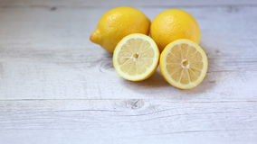 Yellow lemons stock video