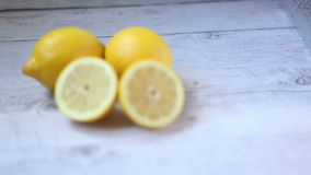 Yellow lemons stock video footage