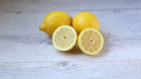 Yellow lemons stock footage