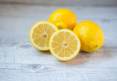 Yellow lemons Stock Images