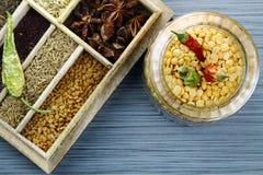 Yellow lentil beans or Arhar daal Stock Image