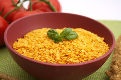 Yellow lentils Royalty Free Stock Photography