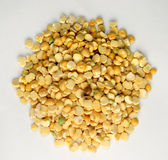 Yellow lentils. Spread of yellow lentils Royalty Free Stock Images