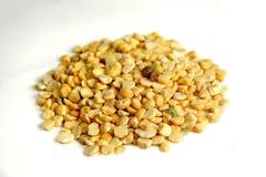 Yellow lentils. Spread of yellow lentils Stock Photo