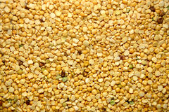Yellow Lentils. Spread of yellow lentils Stock Image