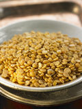 Yellow lentils Royalty Free Stock Photo