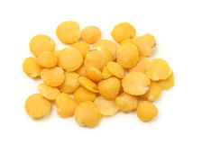 Yellow lentils Stock Photos
