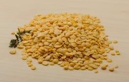 Yellow lentils Stock Photography