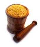 Yellow lentils Royalty Free Stock Image