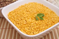 Yellow lentils Royalty Free Stock Photo