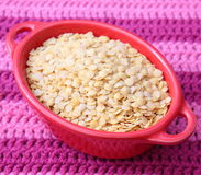 Yellow lentils Stock Images
