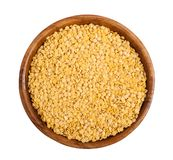 Yellow lentils Stock Photography