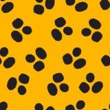 Yellow leopard skin pattern Royalty Free Stock Photo