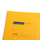 Yellow letter envelope isolated over white Royalty Free Stock Images