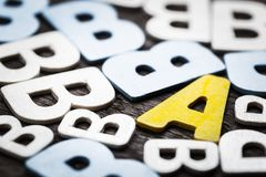 Different A Alphabet Stock Photography