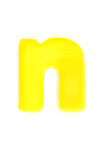Yellow letter n Royalty Free Stock Photography