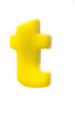 Yellow letter t Stock Photo