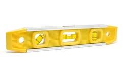 Yellow Level. On White Royalty Free Stock Photo