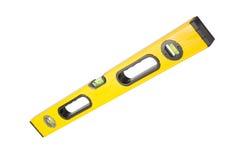 Yellow level. Tool isolated on white Stock Photo