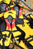 Yellow Life Jacket. For Water Sports Outfit Stock Photos