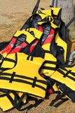 Yellow Life Jacket. For Water Sports Outfit Stock Image