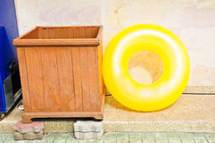 Yellow Life ring Royalty Free Stock Photography