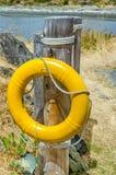 Yellow Lifebuoy Stock Image