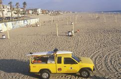 Yellow Lifeguard truck Stock Image