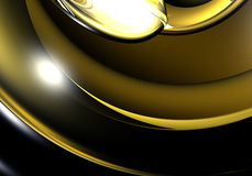 Yellow light (abstract). A Study of Form&Colors, rendered in Bryce Royalty Free Stock Photo