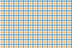 Yellow and Light Blue Gingham pattern. Texture from rhombus/squares for - plaid, tablecloths, clothes, shirts, dresses, paper,. Bedding, blankets, quilts and vector illustration