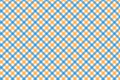 Yellow and Light Blue Gingham pattern. Texture from rhombus/squares for - plaid, tablecloths, clothes, shirts, dresses, paper,. Bedding, blankets, quilts and stock illustration