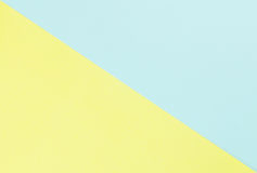 Yellow and light blue paper pastel tone Royalty Free Stock Image
