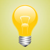 Yellow light bulb Stock Photo
