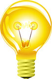 Yellow light bulb Stock Photography