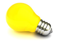 Yellow light bulb Royalty Free Stock Photo