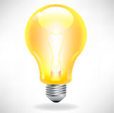 Yellow light bulb Royalty Free Stock Photography