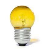 Yellow light bulb. Over white background Royalty Free Stock Image