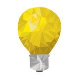 Yellow light bulb abstract geometric Royalty Free Stock Image