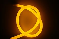 Yellow light of led lamp Royalty Free Stock Photo