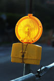 Yellow light signal for caution Royalty Free Stock Images