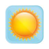 yellow light sun icon Stock Photos