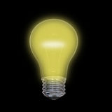 Yellow lightbulb Royalty Free Stock Photos