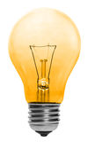 Yellow Lightbulb Isolated Stock Photo