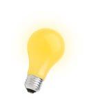 Yellow lightbulb isolated on white Royalty Free Stock Image