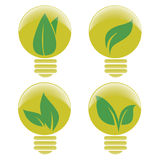 Yellow lightbulbs Stock Photos